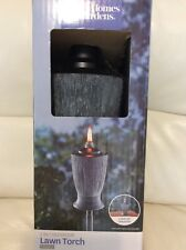 Better Homes & Gardens Locksley Outdoor Lawn Torch Rustic Tiki New! Tabletop