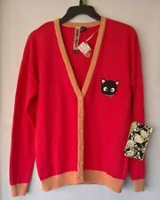 Hello Kitty By Forever 21 Coral Mauve Chococat  Dropped Shoulder Cardigan L