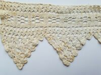 """Antique Crochet Lace Edging 17.5"""" Trim Sewing Projects Crafts Costume A34"""