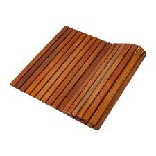 "Nordic Style Oiled Teak String Shower Bath Mat 31.4"" x 19.6"""