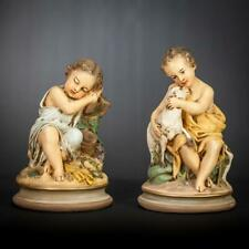 Child Jesus St John Pair Statues | Christ and Saint The Baptist Plaster Figures