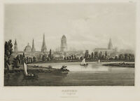 Ansicht von Oxford an der Themse, England, Großbritannien, um 1840, Stahlstich