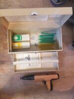 ERICO SDT A 301 Powder Acutated Tool  ~Ramset Cobra & Hilti DX 301 w/ Steel Box
