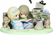 Precious Moments , Limited Edition Couple Listening to Record Player 133039