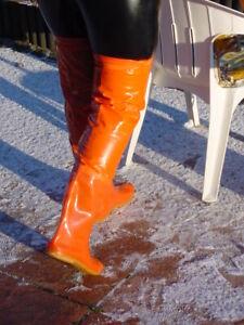 Gummistiefel  PVC Stiefel  Rubberboots  PVC boots PVC Strümpfe neu 270mm