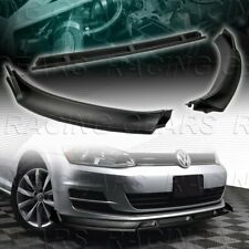 FOR 2014-2017 VOLKSWAGEN VW GOLF MK7 UNPAINTED BLACK FRONT BUMPER SPOLIER LIP