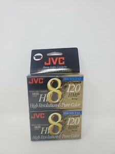 JVC Hi8 METAL 8mm Video Cassette 2 PACK-120 HMP NTSC-SEALED  Camcorder Tapes