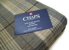Chaps Home Multi Colors 100% cotton Brown Gray Plaid Full Queen Blanket New