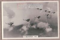 "R.A.F. Fairey ""Gordon"" Light Bombers In Formation 1930s Trade Card"