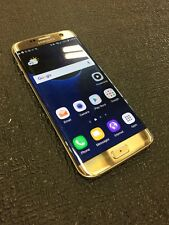Samsung Galaxy S7 edge SM-G935P 32GB Gold Platinum (Sprint) BAD ESN CRACKED BACK