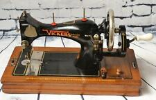 1930's British VICKERS Hand Crank Sewing Machine // Working - FREE P&P [PL2152]