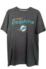 Nike Miami Dolphins Official NFL Team Apparel Men's T-shirt Gray Size Medium