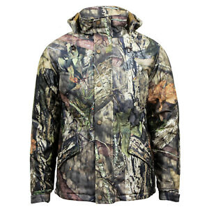 Men's Mossy Oak Camouflage Hunting Hiking Fishing Hooded Outdoor Activity Jacket