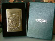 VERY RARE SOLID BRASS INDIAN CHIEF ZIPPO LIGHTER FROM 1998. NEW/UNUSED.