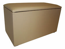 Faux Leather Solid Pattern Toy Boxes & Chests