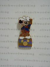 Older 1980s Disney Channel COWBOY MICKEY MOUSE On TV Television Logo Series Pin