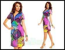 Chic Vestito Estivo ~ super Design e sciolto Vita ~ multicolore ~ Tg. L