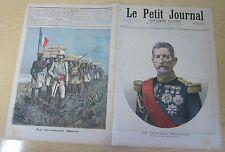 Le petit journal 1892 N° 85 Général Mellinet Lieutenant Mizon