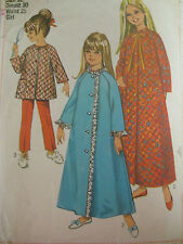 Vintage Simplicity 7371 MANDARIN COLLAR ROBE BUTTONED Sewing Pattern Child Girl