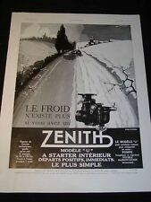 "Antique ADVERTISING ""Zenith Carburetors"" c1932 French ""L'Illustration"" Magazine"