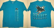 SAN JOSE SHARKS Shirt XL VINTAGE Vertical Logo NHL Hockey SJ Salem OOP RARE HTF