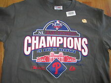 2010 NLDS NL East Division PHILADELPHIA PHILLIES Champions (MED) T-Shirt w/ Holo