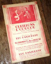 cueillons l'coucou fox-trot orchestre musette chant piano conducteur Daniderff