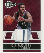 2010-11 PANINI TOTALLY CERTIFIED RED D.J. AUGUSTIN JERSEY /249 CHARLOTTE BOBCATS