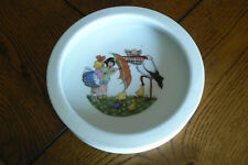 Vintage Childs Baby Stork Ducks Character Porcelain Bowl Germany FREE US SHIP