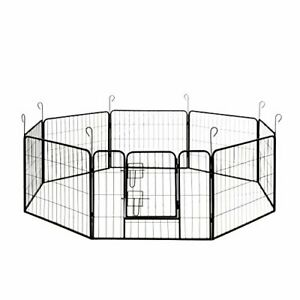 ALEKO Heavy Duty Pet Playpen Dog Kennel Pen Exercise Cage Fence 8 Panel 32X24 In