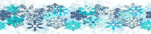 Schnee-Flocken eßbar Torten-Band-Bordüre-Bild Party Deko Geburtstag Eis Frozen
