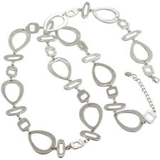 Grand différents forme breloque bijoux fantaisie plaqué argent long collier