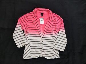 NWT Daytrip Women's Pink Ombre Striped Blazer Jacket Size Small S