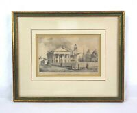 Antique 19th C Lithograph Charlestown Female Seminary T Moores Lith Miss A Monds