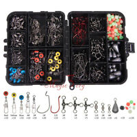 Lot 262 Complete Sea Fishing Rig Making Kits W/ 16 Compartment Tackle Box Pike