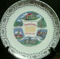 Vtg Pennsylvania Souvenir Plate * Independence Hall * Pittsburgh * Valley Forge