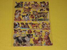 1x Poesiebilder Oblaten Hunde 213 Glanzbilder Hunderassen viele dogs welpen