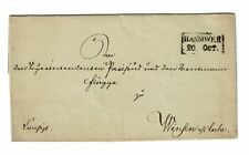 Hanover Early Stampless Cover (October 20th) - Z248