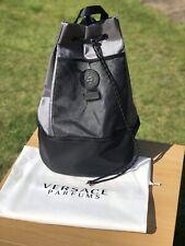 VERSACE Black and Grey Medusa Backpack Rucksack Gym College Designer Bag New