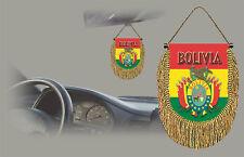 BOLIVIA REAR VIEW MIRROR WORLD FLAG CAR BANNER PENNANT