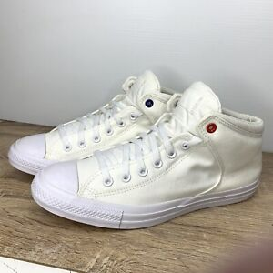 Converse Chuck Taylor High Street Hi Top White Sneakers Womens Size 13