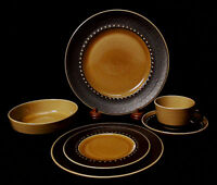 FRANCISCAN DISCOVERY TAHITI MID 60s RETIRED 6 PIECE PLATE SETTING ~ VGUC