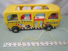 Fisher Price Little People Play Family Safety School Bus vehicle vintage 990