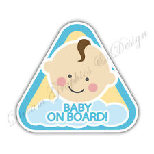 Baby on Board Child Full Color Adhesive Vinyl Sticker Window Car Bumper #057