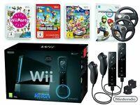 Nintendo Wii schwarz Konsole + Sports in OVP ORIGINAL Remote Controller & Spiel