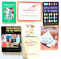 """DRAWING & PAINTING 7 Books Lot: Instructions & """"How-To"""""""