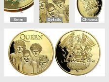 Queen Band Souvenir Gold Plated Coin Freddy Mercury