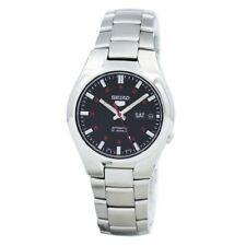 全新現貨 SEIKO精工 5 自動 黑色錶盤不銹鋼男士手錶 SNK617K1 HK*1