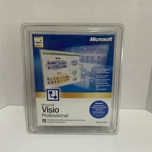 Microsoft Visio Professional Version 2002 Brand New Sealed