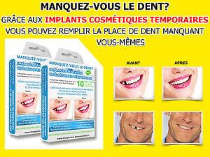 2x Dents temporaires remplacement fausses provisoire de prothèses dentaires